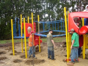New playground construction